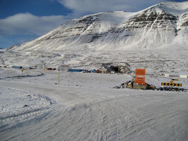 Frá vinnusvæði Háfells við Héðinsfjarðargöngin