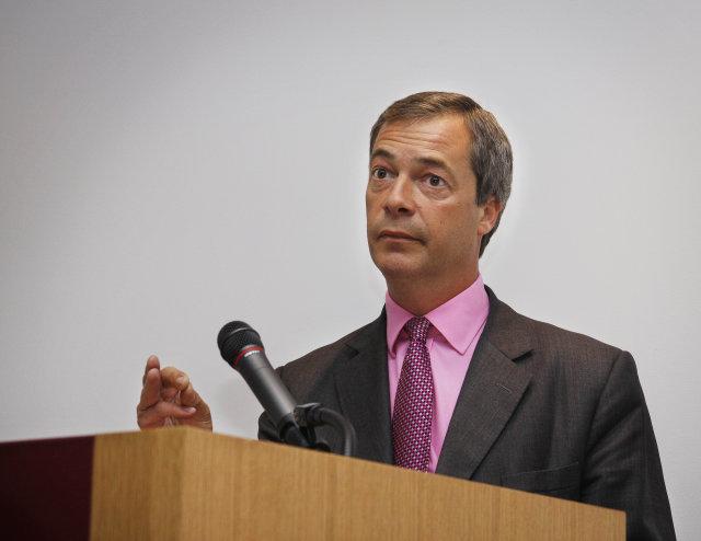 Nigel Farage, þingmaður á Evrópuþinginu. Myndin er tekin þegar Farage ...