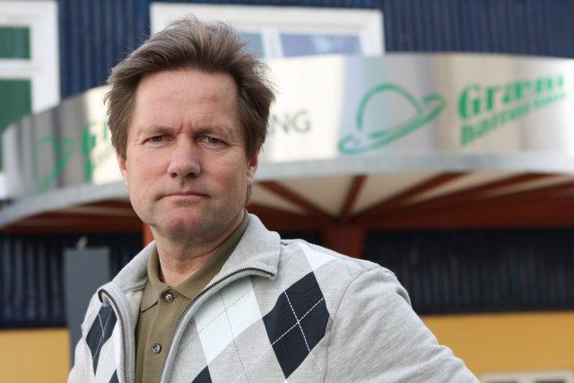 Haukur Tryggvason, eigandi Græna hattsins á Akureyri.