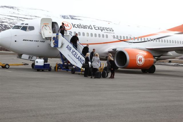 Flugvél Iceland Express. Mynd úr myndasafni.