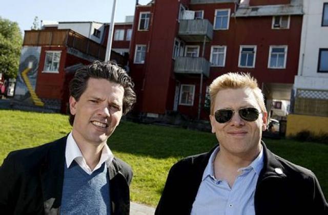 Dagur B. Eggertsson og Jón Gnarr, oddvitar Samfylkingarinnar og Besta ...