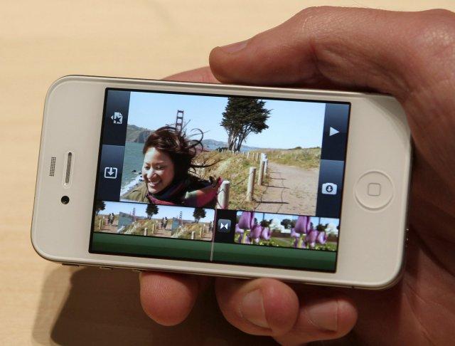 iMovie í nýja iPhone símanum sem kynntur var í dag