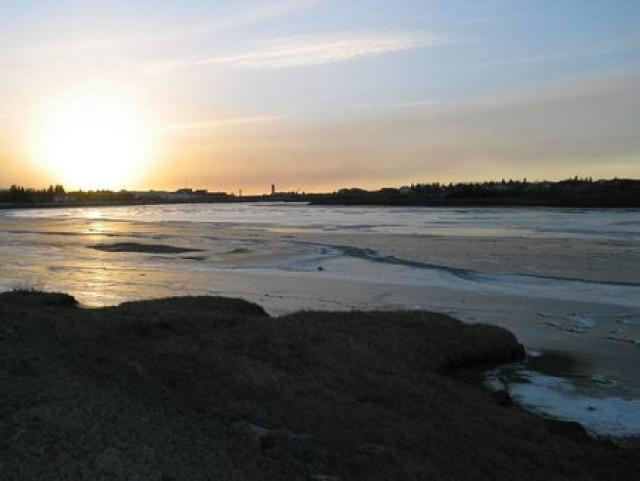 Ölfusá við Selfoss.