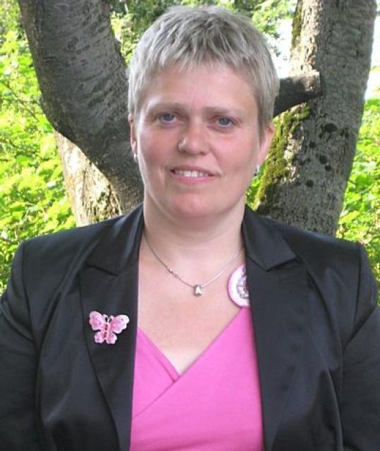 Andrea Björnsdóttir fékk flest atkvæði í dag.