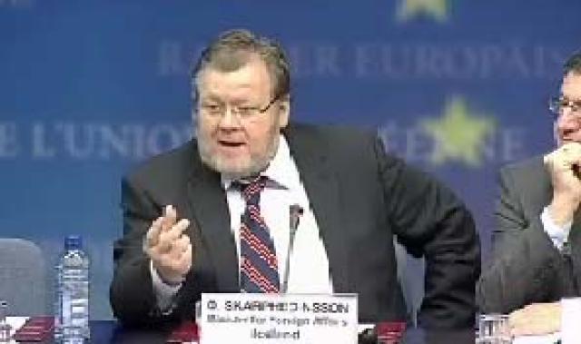 Össur Skarphéðinsson, utanríkisráðherra, og Steven Vanackere, utanríkisráðherra Belgíu, í Brussel ...