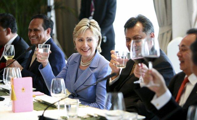 Hillary Clinton, utanríkisráðherra Bandaríkjanna, er nú stödd í Taílandi.