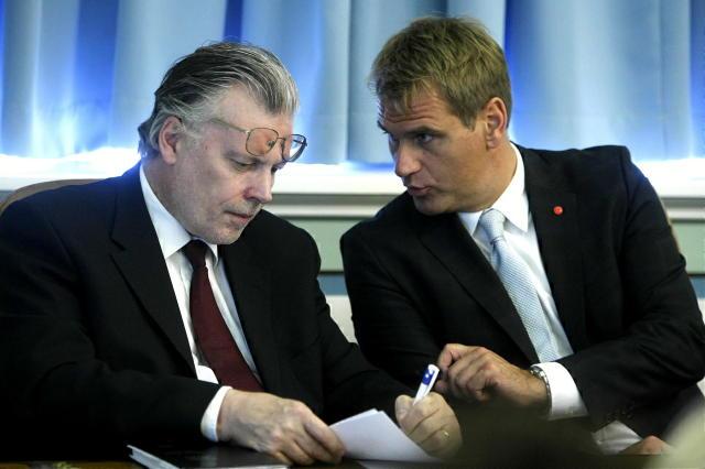 Ráðherrarnir Ögmundur Jónasson og Árni Páll Árnason á Alþingi.