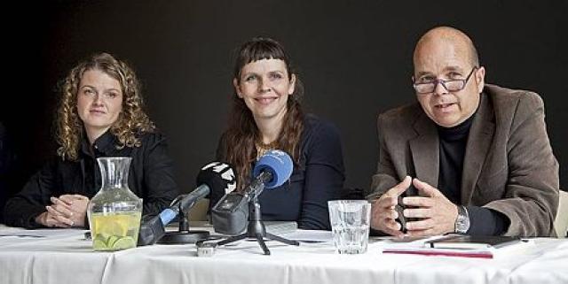 Þingmenn Hreyfingarinnar, Margrét Tryggvadóttir, Birgitta Jónsdóttir og Þór Saari.