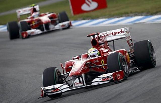 Massa á undan Alonso í Hockenheim.