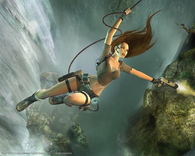 Kvenhetjan Lara Croft í Tomb Raider er mjög vinsæl.