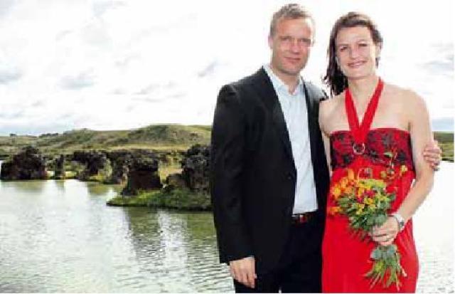 Katrín Jónsdóttir og Þorvaldur Makan Sigbjörnsson
