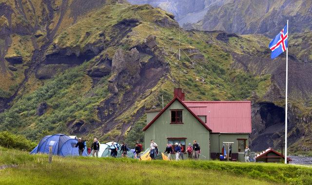 Skáli Ferðafélags Íslands í Þórsmörk