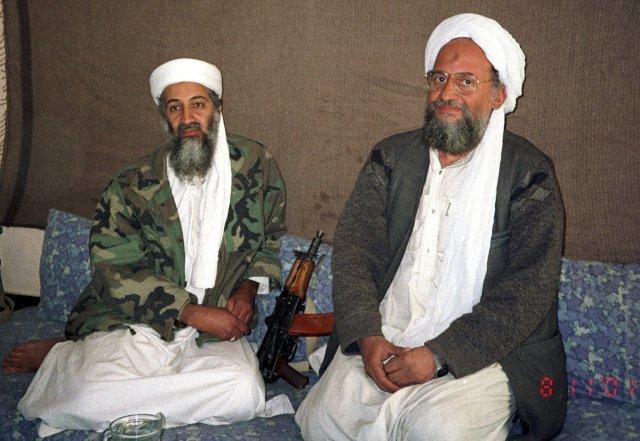 Osama bin Laden með Ayman al-Zawahiri, næstráðanda sínum.