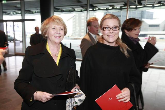 Vigdís Finnbogadóttir og dóttir hennar Ástríður Magnúsdóttir.
