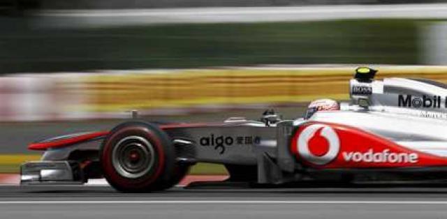 Button á silfurör McLaren í Montreal.