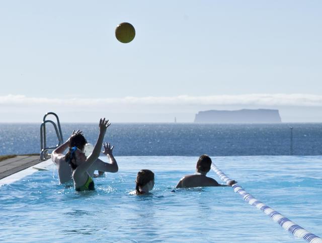 Summertime in Hofsós Pool.