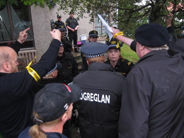 Lögreglan var kölluð út að Breiðagerði.