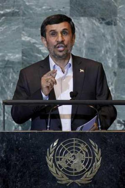 Mahmoud Ahmadinejad forseti Írans.