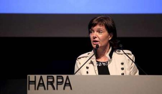 Margrét Kristmannsdóttir á fundi SA í gær.