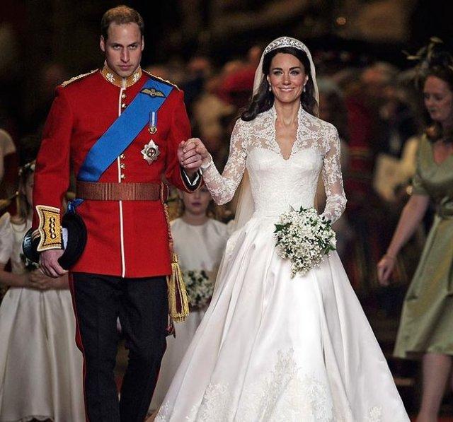 Vilhjálmur Bretaprins og Catherine hertogaynja af Cambridge giftu sig í ...