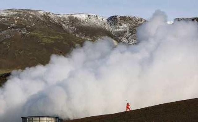 Rólegt var á skjálftasvæðinu við Hellisheiðarvirkjun í gær.
