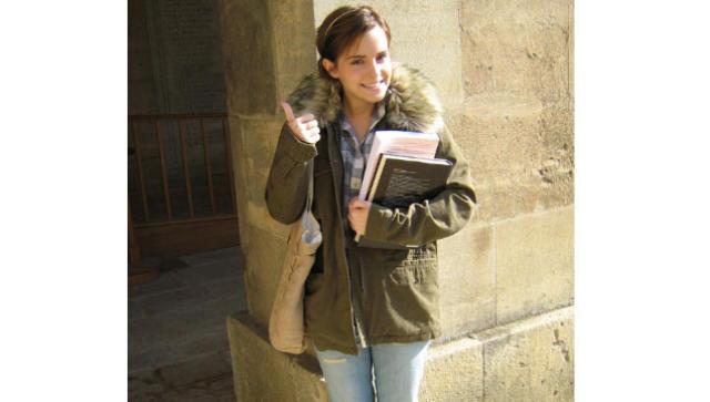 Emma Watson við nám í Oxford.