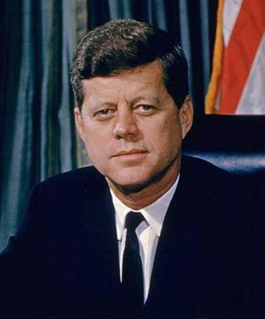 John F. Kennedy var myrtur 22. nóvember 1963.