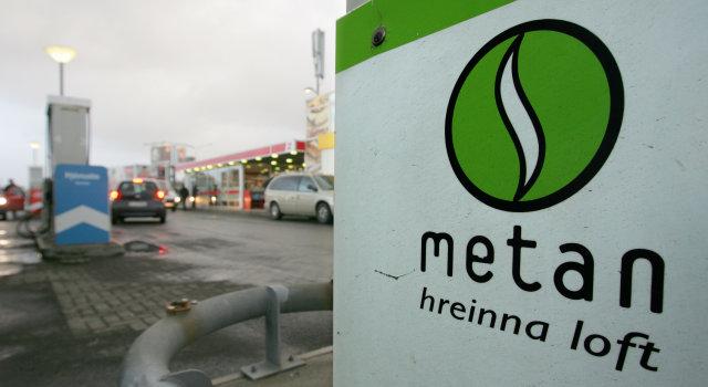 Metanstöðin við Ártúnshöfða í Reykjavík.