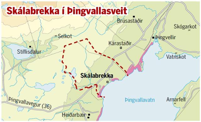Skálabrekka í Þingvallasveit.