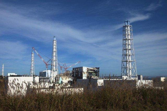 Frá kjarnorkuverinu í Fukushima.
