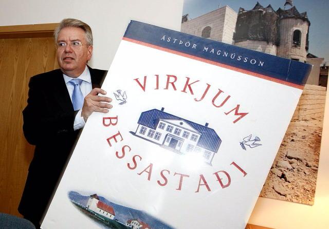Ástþór Magnússon er hann tilkynnti forsetaframboð sitt þann 2. mars ...