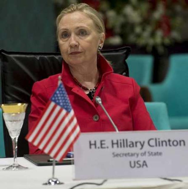 Hillary Clinton utanríkisráðherra Bandaríkjanna krefst þess að Assad forseti láti ...