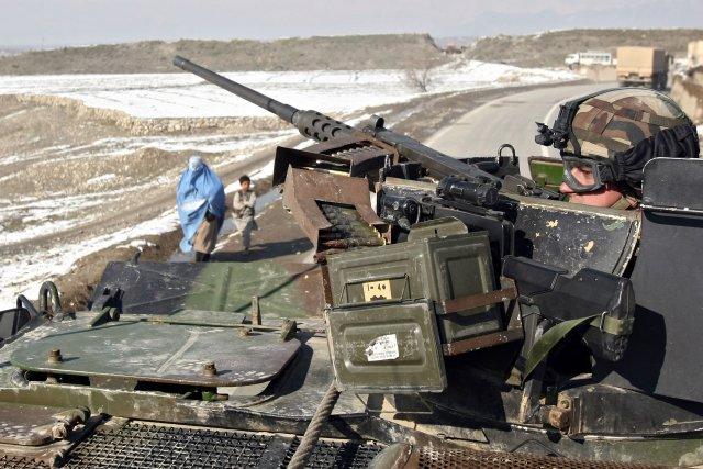 Franskur hermaður á vaktinni í Afganistan.