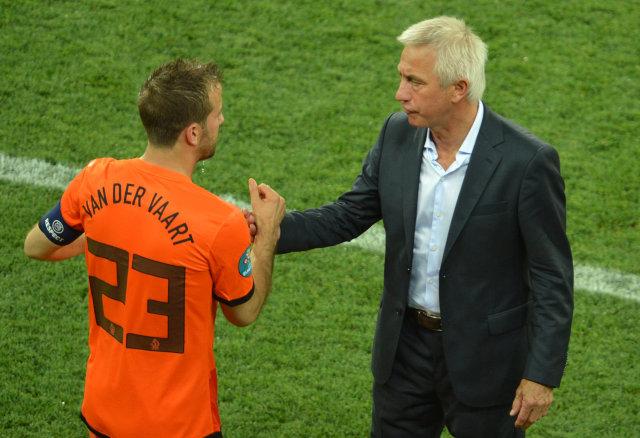 Bert van Marwijk ásamt Rafael van der Vaart.