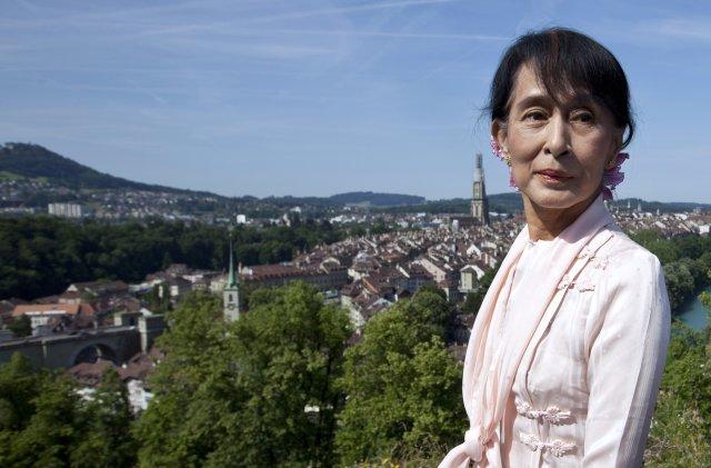 Aung San Suu Kyi ferðast nú um Evrópu í fyrsta ...
