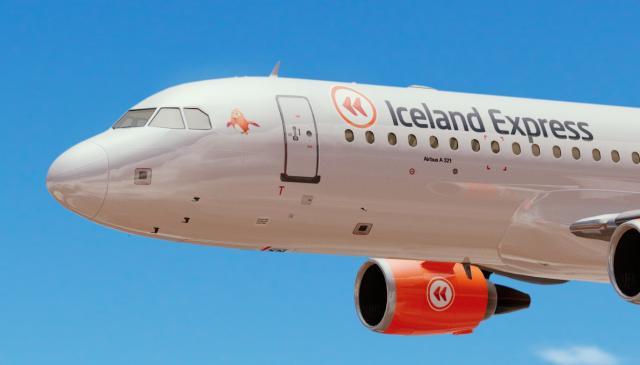 Ein af flugvélum Iceland Express.