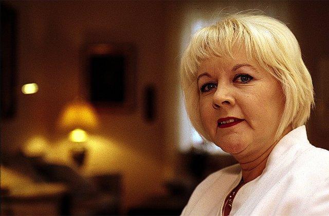 Anne Kristine Magnúsdóttir nýtir sér þjónustu dagdeildar Grensásdeildarinnar eftir aðgerð ...