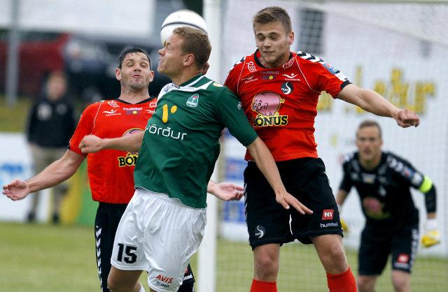 Sverrir Ingi Ingason úr Breiðabliki og Magnús Þórir Matthíasson úr ...