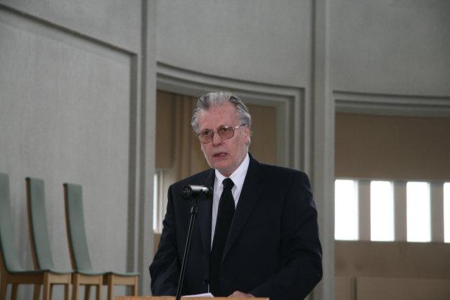 Ögmundur Jónasson innanríkisráðherra við setningu Prestastefnu 2012 í Hallgrímskirkju.