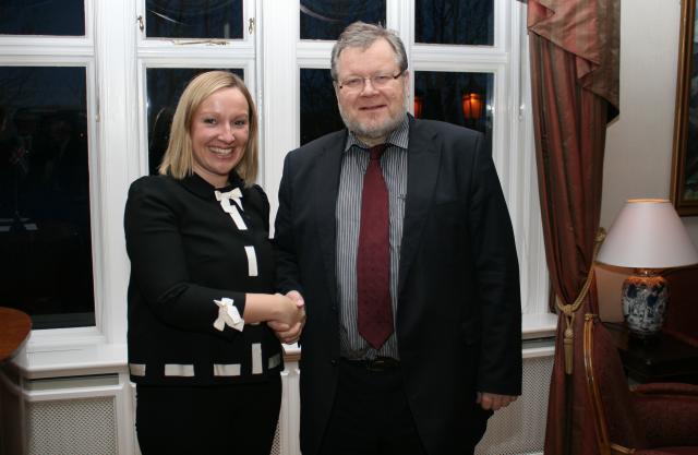 Lucinda Creighton, Evrópuráðherra Írlands, og Össur Skarphéðinsson, utanríkisráðherra.