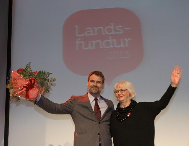 Árni Páll Árnason og Jóhanna Sigurðardóttir, forsætisráðherra eftir að nýr ...
