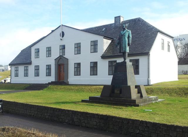 Stjórnarráðshúsið, þar sem forsætisráðuneytið er til húsa.