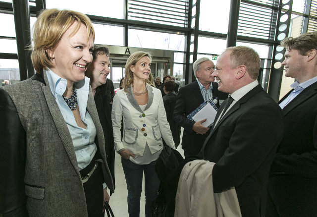 Hanna Birna Kristjánsdóttir á landdsfundi Sjálfstæðisflokksins í Laugardalshöll.