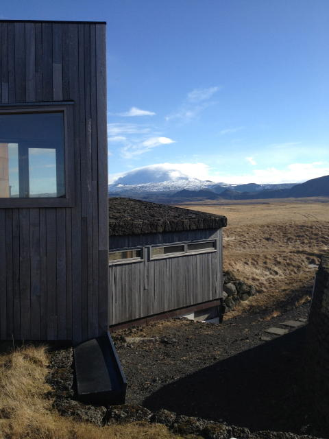 Hekla á óvissustigi að morgni þriðjudags 26. mars 2013. Séð ...