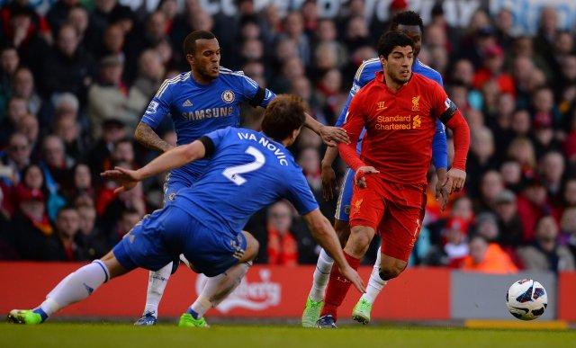 Suárez í leiknum gegn Chelsea.
