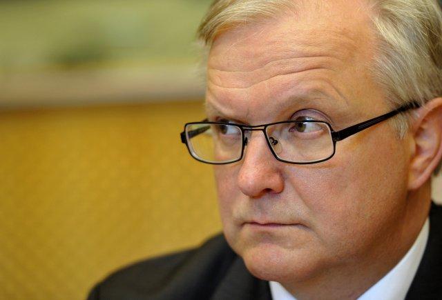 Olli Rehn, peningamálastjóri ESB.