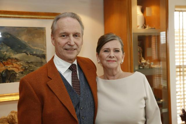 Ari Trausti Guðmundsson og eiginkona hans María G. Baldvinsdóttir.