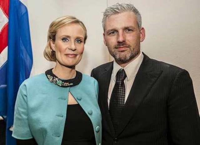 Hjónin Þóra Arnórsdóttir og Svavar Halldórsson.
