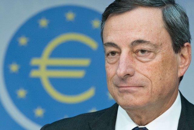 Mario Draghi bankastjóri Seðlabanka Evrópu.