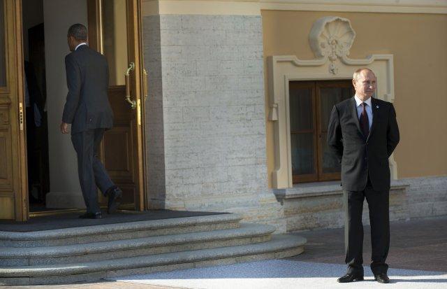 Það eru engir sérstakir kjærleikar milli Vladimir Putin og Barack ...